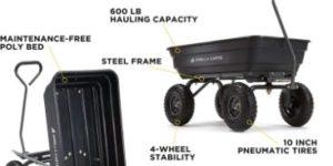 5. Gorilla Carts GOR4PS Poly Garden Dump Cart