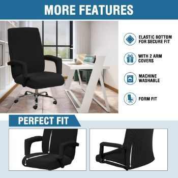 5. Spandex Polyester Chair Covers for Computer Office