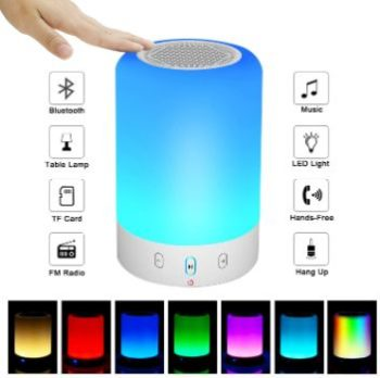 #5. VOCH Night Light Bluetooth Speaker