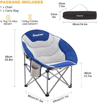 #6. KingCamp Moon Saucer Camping Chair