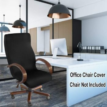6. NORTHERN BROTHERS Office Chair Cover (Black)