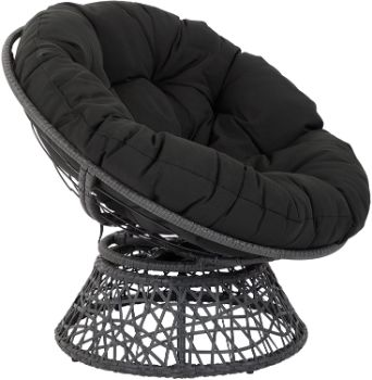 6. OSP Home Furnishings Papasan Chair with 360-degree Swivel