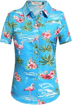 #6. SSLR Women's Hawaiian Shirt