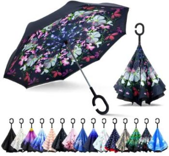 6. ZOMAKE Double Layer Reverse Umbrella