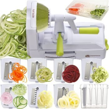 7. Brieftons 7-Blade Spiralizer, Heaviest Duty