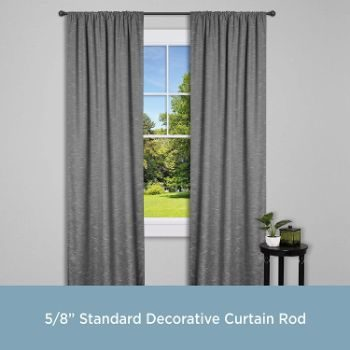 7. Kenney Chelsea Standard Decorative Window Curtain Rod