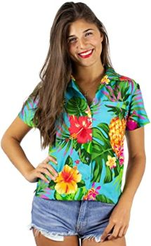 #7. King Kameha Funky Women's Hawaiian Shirt