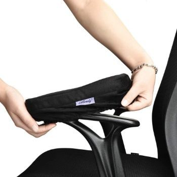 #7. Memory Foam Office Chair Arm Rest Covers