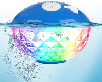 7. Portable Bluetooth Speakers with Colorful Lights, IPX7 Waterproof