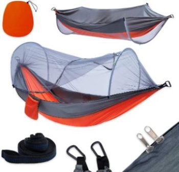 #7. Yoomo Camping Hammock with Mosquito Net
