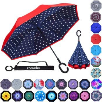 7. Z ZAMEKA Double Layer Inverted Umbrellas