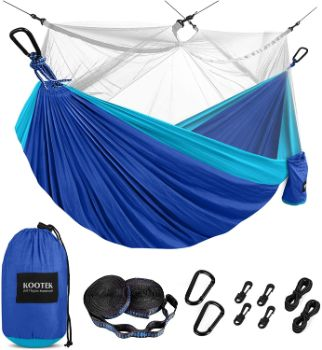 #8. Kootex Camping Hammock with Mosquito Net
