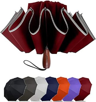 8. Lejorain Large Reverse Umbrella -50 Inch