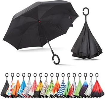 8. Sharpty Inverted Umbrella with C-Shaped Handle