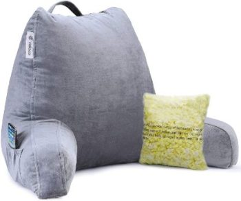 8. Vekkia Reading & Bed Rest Pillow, Back Support Cushion
