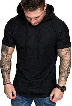 #8. Workout Gym Tee Short Sleeve Hoodie