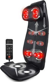 #8. Zyllion ZMA-33-BK Massage Chair Pad