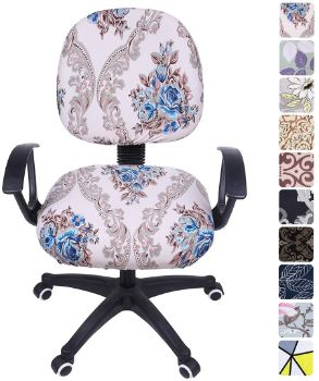 8. smiry Stretch Print Computer Office Chair Cover
