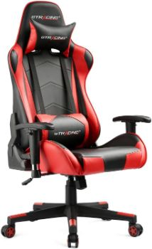 9. GTRACING Gaming Chair (Red)