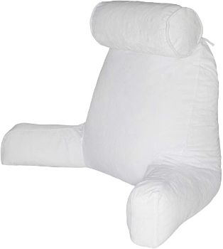 9. Husband Pillow - Black, Big Backrest Reading Bed Rest Pillow