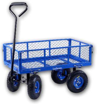9. Landworks 2103Q044A Heavy Duty Garden Utility Cart