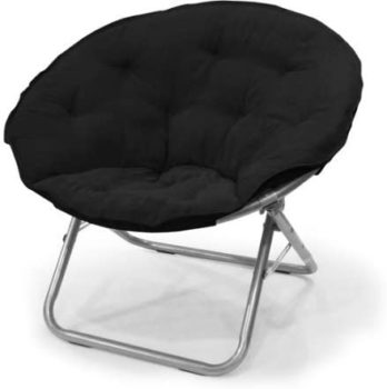 #9. Mainstays Large Microsuede Saucer Chair