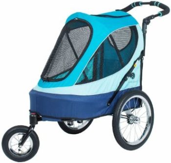 9. Petique All Terrain Jogger-Blazin' Berry Pet Stroller