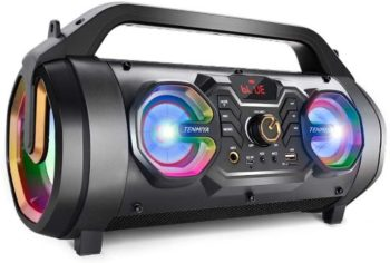 #9. TENMIYA A66 Bluetooth Speaker with Lights
