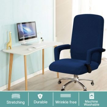9. Turquoize Office Chair Cover, Machine Washable