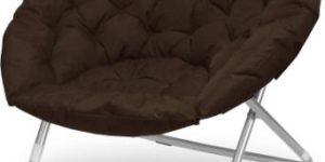 9. Urban Shop Oversized Saucer Chair, Brown