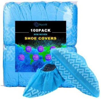9. squish Non Woven Fabric Boot Covers 100 Pack (50 Pairs)