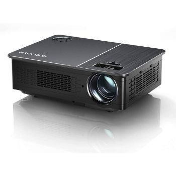 4. Crenova 5800 Lux LED Projector for Outdoor Movie