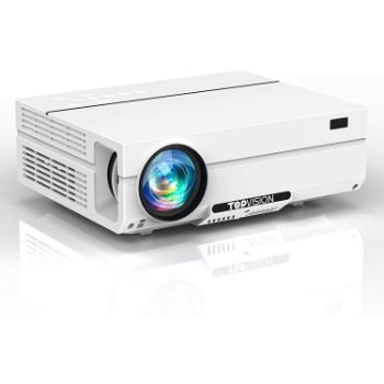 9. TOPVISION 1080P Video Projector with Carrying Case