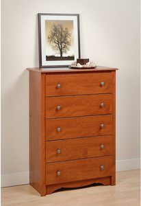 2. Cherry Monterey 5 Drawer Chest