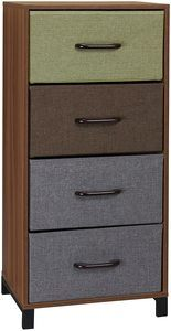 5. Household Essentials 8034-1 Wooden 4 Drawer Dresser