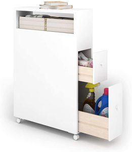 6. Tangkula Slim Bathroom Storage Cabinet