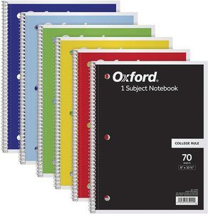 1. TOPS/Oxford 1-Subject Notebooks