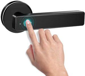 6. Smart Biometric Fingerprint Handle Door Lock