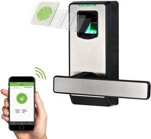 7. ZKTeco Biometric Door Lock Fingerprint Lock with Bluetooth