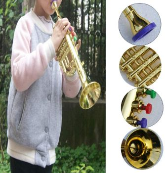 1. D DOLITY 14 1 2 inch Plastic Toy Trumpet