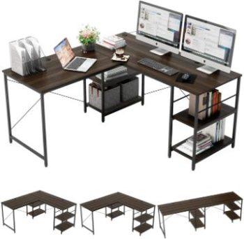 10. Bestier 95.5L-shaped Desk