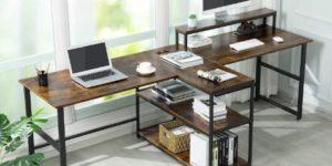 3. Sedeta 94.5 inches Two Person Desk