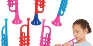 5. ArtCreativity 13 Inch Plastic Trumpets
