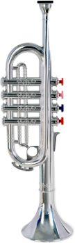 6. Bontempi 32 3831 4-Note Silver Trumpet (37 cm)