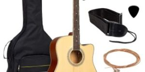7. Best Choice Products 41in Full-Size Acoustic Guitar Starter Set