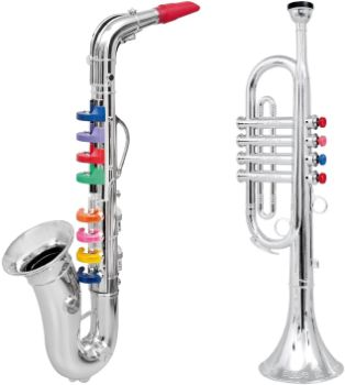 7. CLICK N' PLAY Musical Wind Instruments, Set of 2