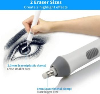 8. AFMAT Electric Eraser with 140 Refills