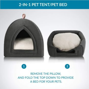 8. Bedsure Kitten Bed Cave Bed
