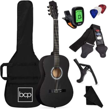 8. Best Choice Products All Wood Acoustic Guitar Starter Kit