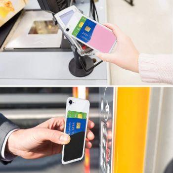 1. Senose Stick On Phone Card Holder